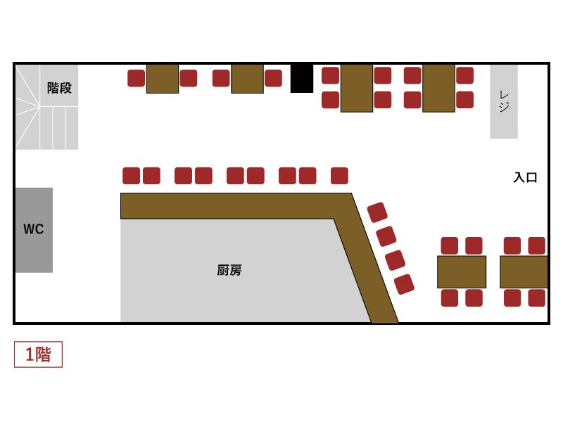 秋葉原とら八 店内マップ1F