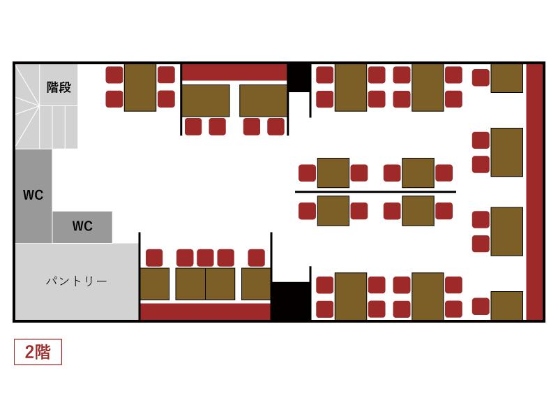 秋葉原とら八 店内マップ2F