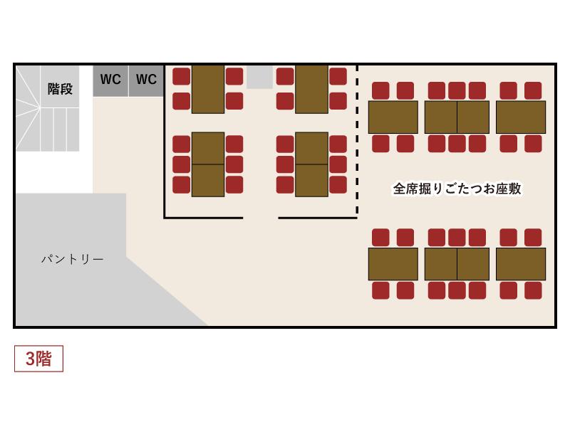 秋葉原とら八 店内マップ3F